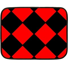 Red Black Square Pattern Fleece Blanket (mini) by Nexatart