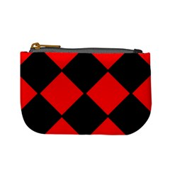 Red Black Square Pattern Mini Coin Purses by Nexatart