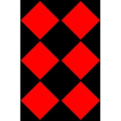 Red Black Square Pattern 5 5  X 8 5  Notebooks