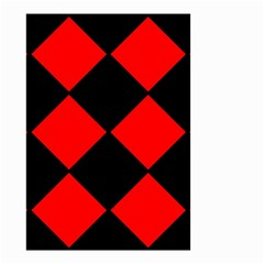 Red Black Square Pattern Small Garden Flag (two Sides)
