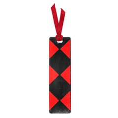 Red Black Square Pattern Small Book Marks by Nexatart