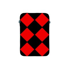 Red Black Square Pattern Apple Ipad Mini Protective Soft Cases by Nexatart