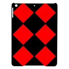 Red Black Square Pattern Ipad Air Hardshell Cases