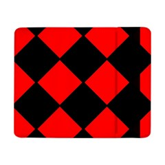 Red Black Square Pattern Samsung Galaxy Tab Pro 8 4  Flip Case by Nexatart