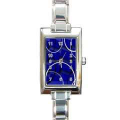 Blue Abstract Pattern Rings Abstract Rectangle Italian Charm Watch by Nexatart