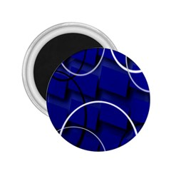 Blue Abstract Pattern Rings Abstract 2 25  Magnets by Nexatart