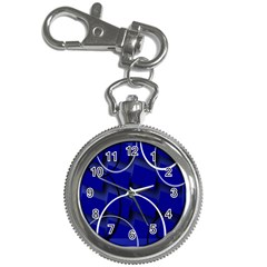 Blue Abstract Pattern Rings Abstract Key Chain Watches by Nexatart