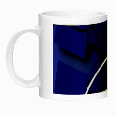 Blue Abstract Pattern Rings Abstract Night Luminous Mugs by Nexatart