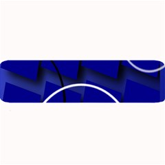 Blue Abstract Pattern Rings Abstract Large Bar Mats by Nexatart