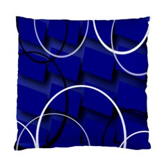Blue Abstract Pattern Rings Abstract Standard Cushion Case (one Side) by Nexatart