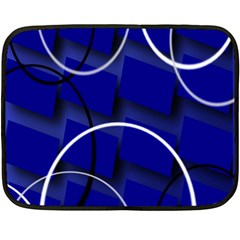 Blue Abstract Pattern Rings Abstract Double Sided Fleece Blanket (mini)  by Nexatart