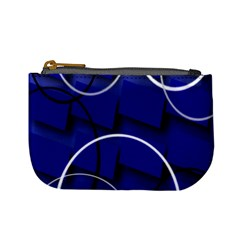 Blue Abstract Pattern Rings Abstract Mini Coin Purses
