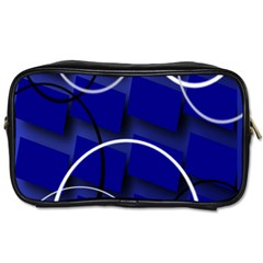 Blue Abstract Pattern Rings Abstract Toiletries Bags