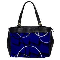 Blue Abstract Pattern Rings Abstract Office Handbags by Nexatart