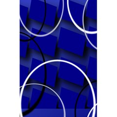 Blue Abstract Pattern Rings Abstract 5 5  X 8 5  Notebooks