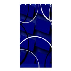Blue Abstract Pattern Rings Abstract Shower Curtain 36  X 72  (stall)