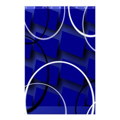 Blue Abstract Pattern Rings Abstract Shower Curtain 48  X 72  (small)  by Nexatart