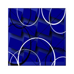 Blue Abstract Pattern Rings Abstract Acrylic Tangram Puzzle (6  X 6 )