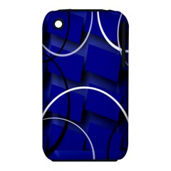 Blue Abstract Pattern Rings Abstract Iphone 3s/3gs