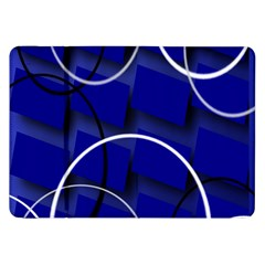 Blue Abstract Pattern Rings Abstract Samsung Galaxy Tab 8 9  P7300 Flip Case