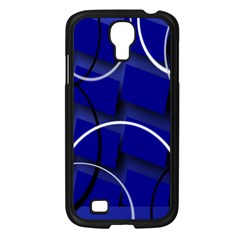 Blue Abstract Pattern Rings Abstract Samsung Galaxy S4 I9500/ I9505 Case (black)