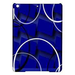 Blue Abstract Pattern Rings Abstract Ipad Air Hardshell Cases by Nexatart
