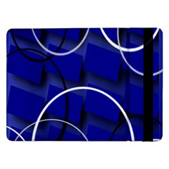Blue Abstract Pattern Rings Abstract Samsung Galaxy Tab Pro 12 2  Flip Case