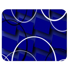 Blue Abstract Pattern Rings Abstract Double Sided Flano Blanket (medium)  by Nexatart