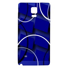 Blue Abstract Pattern Rings Abstract Galaxy Note 4 Back Case by Nexatart