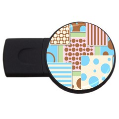 Part Background Image Usb Flash Drive Round (2 Gb)