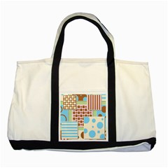 Part Background Image Two Tone Tote Bag by Nexatart
