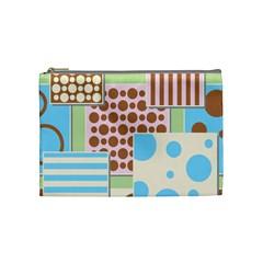 Part Background Image Cosmetic Bag (medium)