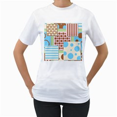 Part Background Image Women s T Shirt (white)