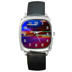 Abstract Background Pictures Square Metal Watch