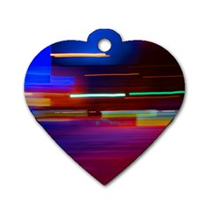 Abstract Background Pictures Dog Tag Heart (one Side)
