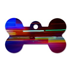 Abstract Background Pictures Dog Tag Bone (Two Sides)