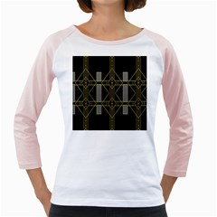 Simple Art Deco Style Art Pattern Girly Raglans