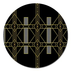 Simple Art Deco Style Art Pattern Magnet 5  (round) by Nexatart