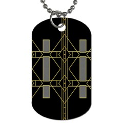 Simple Art Deco Style Art Pattern Dog Tag (one Side)