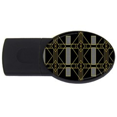 Simple Art Deco Style Art Pattern Usb Flash Drive Oval (2 Gb) by Nexatart
