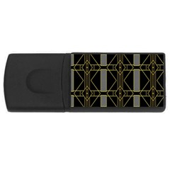 Simple Art Deco Style Art Pattern Usb Flash Drive Rectangular (4 Gb) by Nexatart