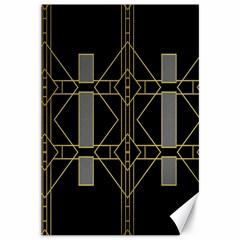 Simple Art Deco Style Art Pattern Canvas 12  X 18