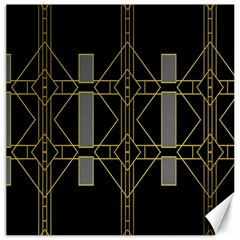 Simple Art Deco Style Art Pattern Canvas 16  X 16   by Nexatart