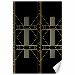 Simple Art Deco Style Art Pattern Canvas 24  X 36
