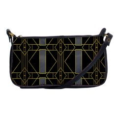 Simple Art Deco Style Art Pattern Shoulder Clutch Bags by Nexatart