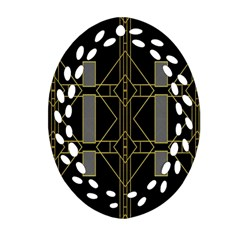 Simple Art Deco Style Art Pattern Ornament (oval Filigree)