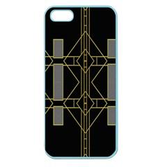 Simple Art Deco Style Art Pattern Apple Seamless Iphone 5 Case (color)