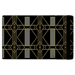 Simple Art Deco Style Art Pattern Apple Ipad 3/4 Flip Case by Nexatart