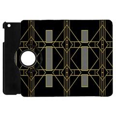 Simple Art Deco Style Art Pattern Apple Ipad Mini Flip 360 Case by Nexatart