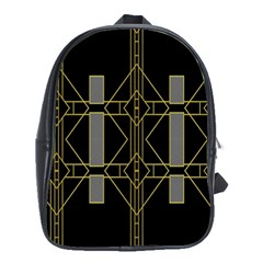 Simple Art Deco Style Art Pattern School Bags (xl)